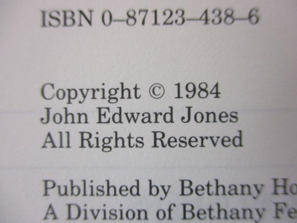 1984 Reconciliation by John Edward Jones Bethany House Hardcover