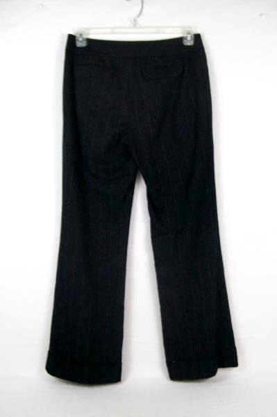 Semantiks Women's Black Lightly Striped Slacks Size 8