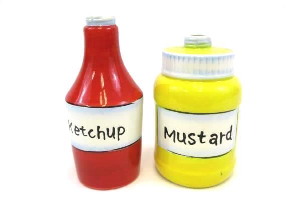 Set of Pier 1 Ketchup and Mustard Bottles Dishwasher Safe Microwaveable