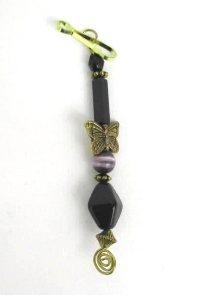 3 Love Those Beaded Butterfly Arrowhead Seashell Zipper Pull Stocking Stuffer