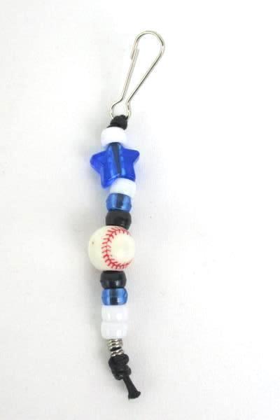 4 Beaded Sport Soccer Baseball Basketball Football Volleyball Zipper Pull Purple