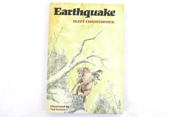 1975 Earthquake by Matt Christopher Illustrated 1st Ed. HC Book Weekly Reader