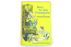 1966 The Key to the Treasure Peggy Parish Illustrated HC Book Weekly Reader