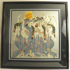 """Tie-Feng Jiang """"Springtime 1987"""" Limited Edition 35/293 Serigraph 33"""" x 33"""""""