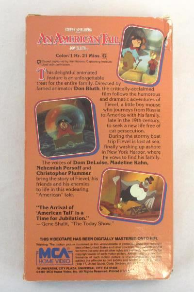 Lot of 3 Children Cartoon VHS Movies All Dogs Heaven American Tail Black Beauty