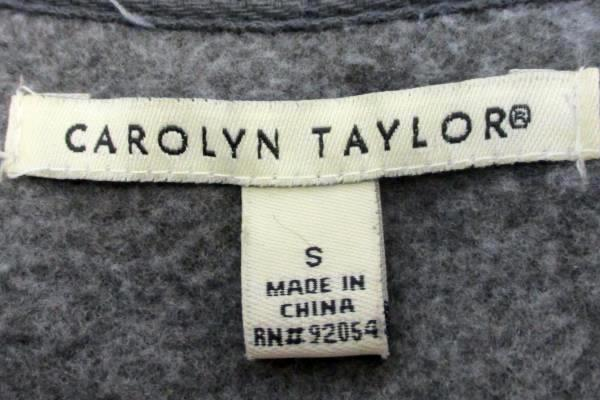 Women's Solid Gray Carolyn Taylor Soft Zip Up Fleece Jacket Size Small