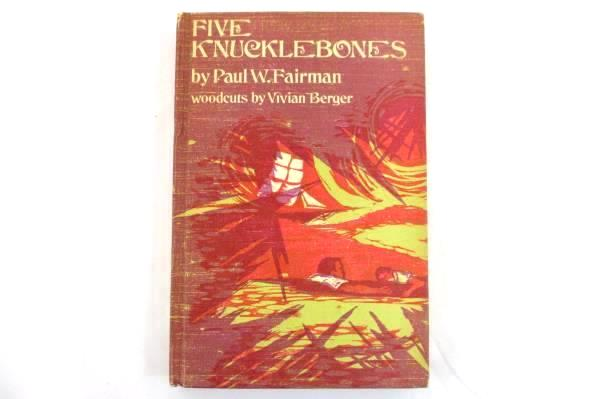 1972 Five Knucklebones HB Paul W. Fairman Illustrated Woodcuts by Vivian Berger