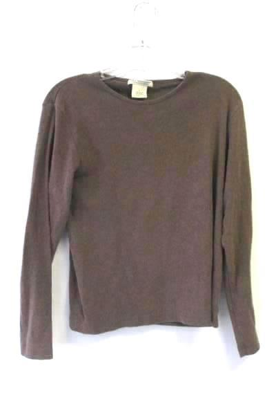 Women's Shirt Brown By Great Northwest Size Large 100% Cotton Long Sleeves