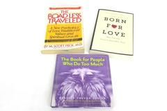 Lot of 3 Self Help Books Road Less Traveled Born For Love People Who Do Too Much