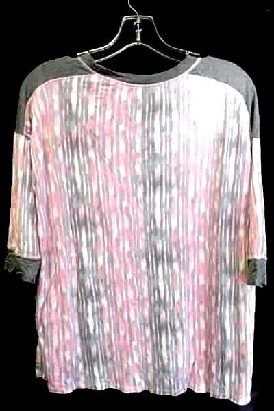Women's Casual Top Pink And Gray By Simply Vera Size Small