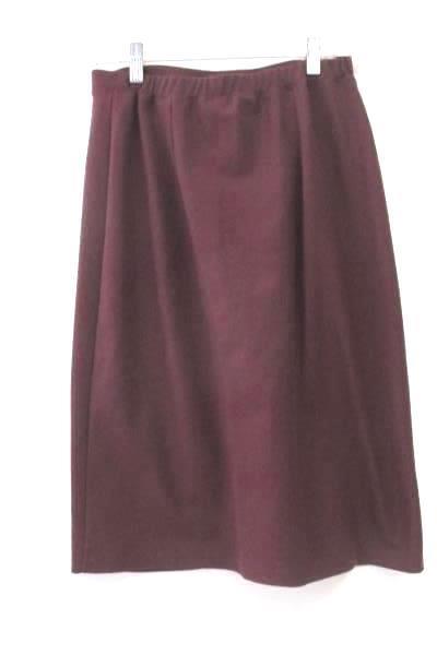 Eddie Bauer Skirt Burgundy Stretch Waist Women's Size Medium Petite