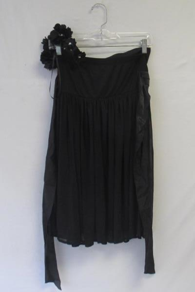 Women's Floral Dress in Black By City Triangles Size S Shoulder Strap Waist Band