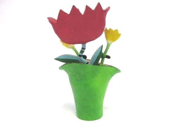 WESTLAND GIFTWARE Be Happy Flowers in a Flower Pot Item # 9973