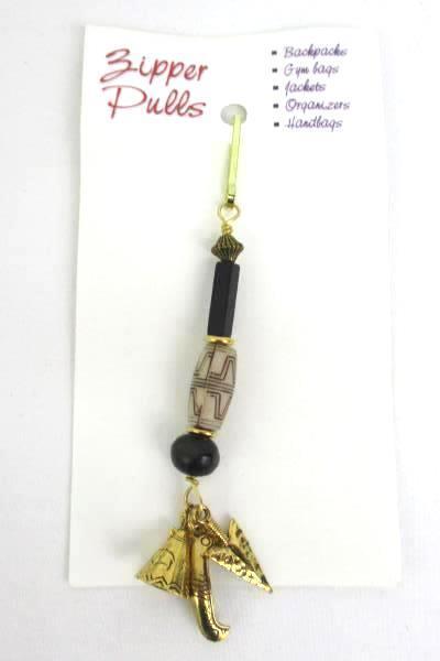 3 Love Those Beads Beaded Butterfly Canoe Seashell Zipper Pull Stocking Stuffer