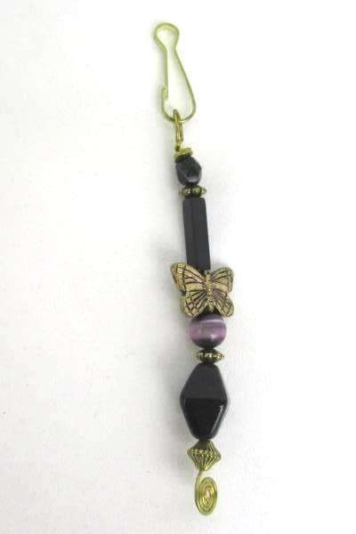 2 Love Those Beads Beaded Butterfly Seashell Zipper Pull Stocking Stuffer