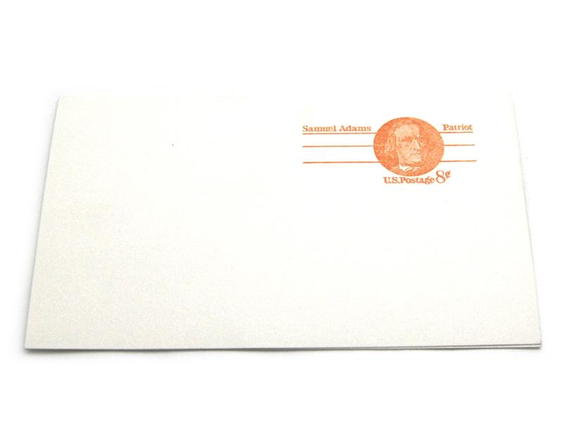 LOT Of 4 Unused Samuel Adams 8 Cent  Postcards