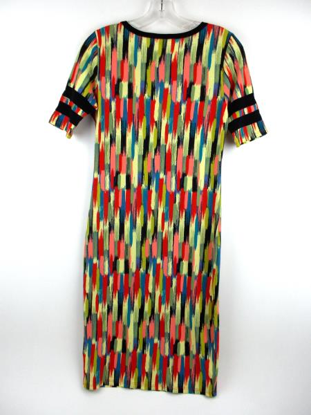 "LULAROE ""Julia"" Bodycon Dress ~ Rainbow Paint Brush Abstract Print ~ Sz XS"