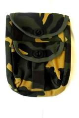 Satchel Multi-Color Camo 100% Cotton Multi-Use Unknown Maker w/ Pockets