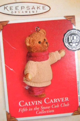 Hallmark Keepsake 2002 Calvin Carver Ornament