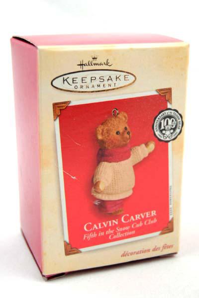 Hallmark Keepsake 2002 Calvin Carver Ornament