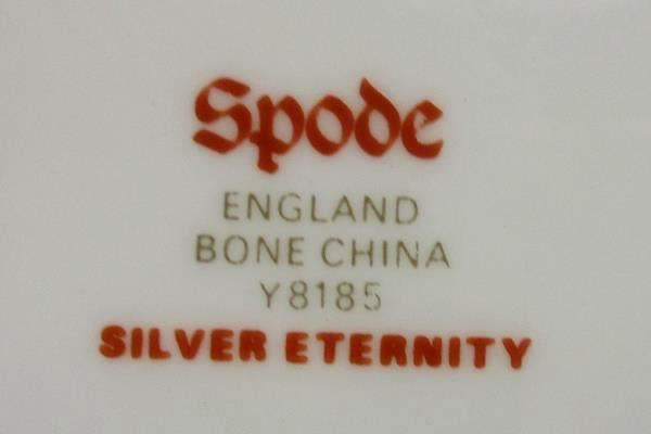 Spode England Bone China Replacement Saucer Y8185 Silver Eternity