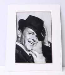 FRANK SINATRA Portrait Charcoal Drawing Quality Print by Pop Artist HAIYAN