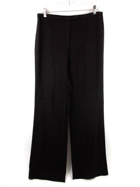 ANN TAYLOR Brown Stretch Wool Career Dress Pants Wide Leg Size 10