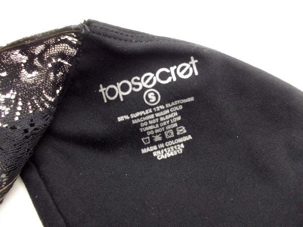 "TopSecret Black ""Sexy Back"" Lacey Bandeau Top Women's Size S - 32B 32C 34A 34B"