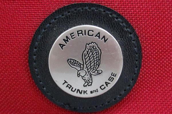 2 pc Carry On American Trunk & Case Red Shoulder Bag & Makeup Shave Case