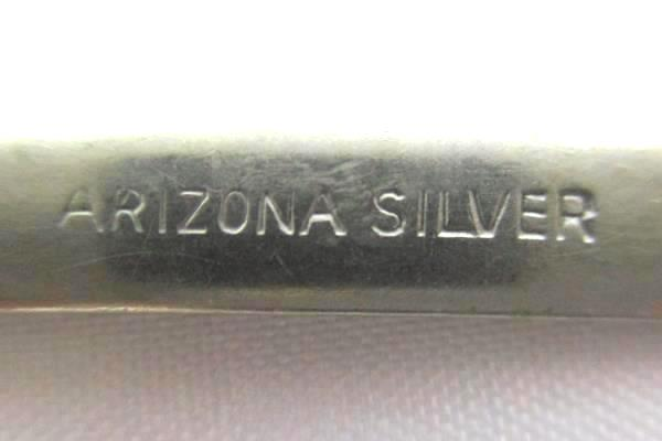 "Lot Of 3 Vintage Arizona Silver Flatware Spoons Monogram ""A"""