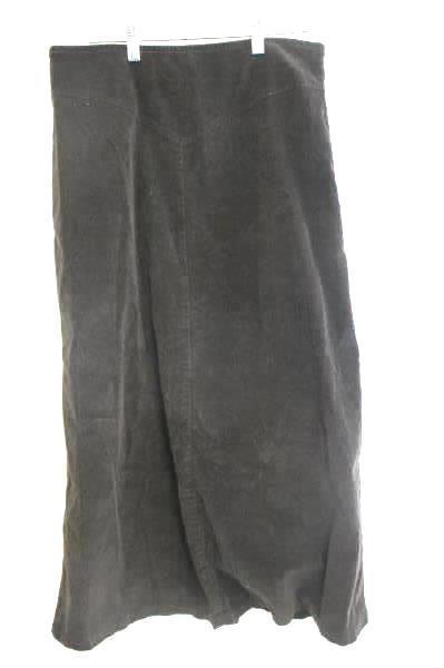 Women's Tribal Skirt Stretch-Extensible Solid Brown Waist Zipper Size 12