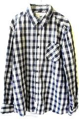 Men's Casual Button Up Shirt Multicolor Plaid Long Sleeves By Company81 Size XL
