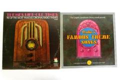 Lot Of 2 Famous Theme Song Vinyl Records Gold Medal Presentation Dot Records