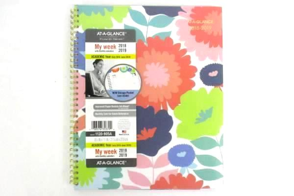 At-A-Glance Spiral Academic Year 2018 2019 Calendar Planner Weekly My Week