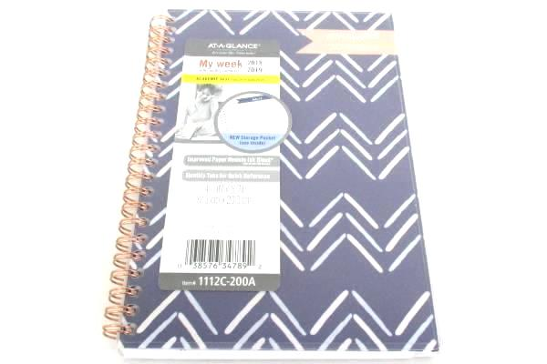 "2 NEW At-A-Glance Academic Year 2018 2019 Calendar Planner My Week 5"" x 8"" Small"