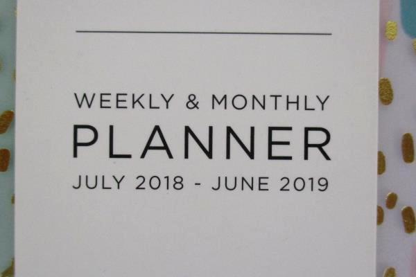 Set of 2 Ashley G for Blue Sky Weekly Monthly Academic Planners 2018/19