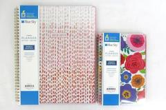 Lot of 2 Blue Sky Weekly Monthly Academic Tabbed Planners 2018/19 CYO Cover