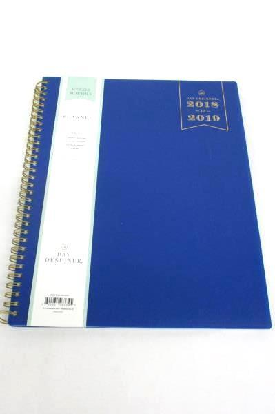 Lot of 3 Day Designer Weekly Monthly Academic Tabbed & Binder Planners 2018/19