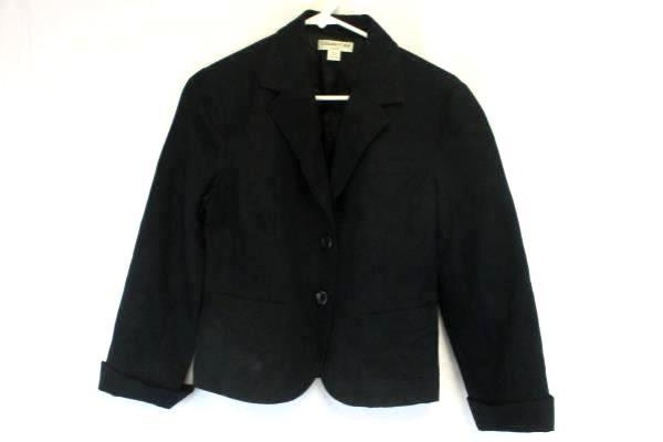Coldwater Creek Women's Black 2 Button Long Sleeve Blazer Size PS (6-8)