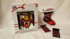 NFL Arizona Cardinala Gift Set w/ Stocking 2 Ornaments and Firehouse Village C