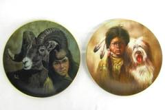 "Lot 2 Kern Collectibles Plates The Companion Series ""Nature Girl"" & ""Shepherds"""