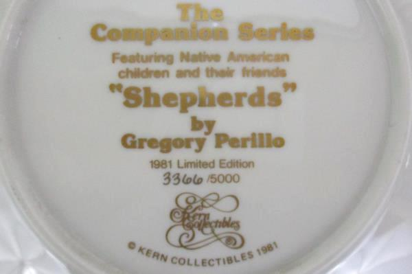 """Lot 2 Kern Collectibles Plates The Companion Series """"Nature Girl"""" & """"Shepherds"""""""