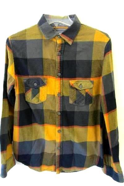 Men's Plaid Multicolored Button Down Shirt By Mossimo Supply Co. Size S