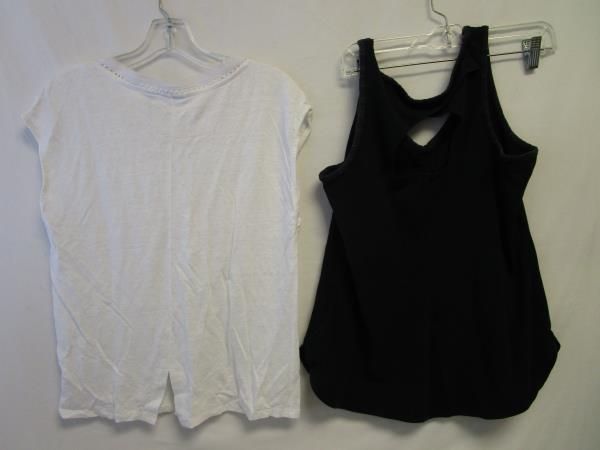Lot of Two Women's Tank Tops By Sigrid Olsen & Columbia White & Black Size M