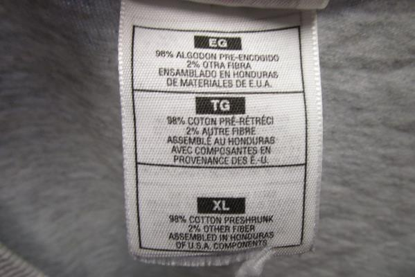 Fruit Of The Loom Men's T-Shirt in Grey Size XL