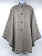 Vtg Ashcroft Alpine Tan Cape 100% New Zealand Wool Retro Poncho Women's Small