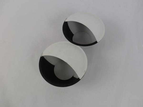 Set of 2 Decklight Landscaping Step Patio White Black Light Cover Recessed Metal