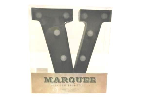 """Marquee 9"""" Tall Metal LED Lights Letter """"V"""" Rustic Rust Gunmetal Industrial"""