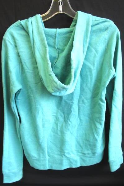 Women's Teal Long Sleeves Drawstring Hooded Sweatshirt by Rue21 Size S