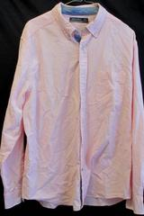 Pink Button Up Collar Long Sleeves Dress Shirt By Nautica Men's Size L